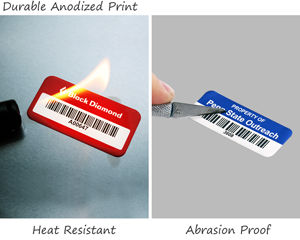 Durable aluminum asset tags