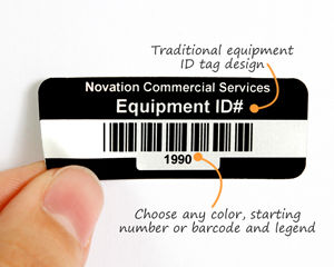 Equipment barcode tag