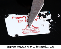 Frustrate vandals with a destructible asset label