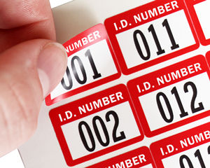 ID Number Barcode Labels