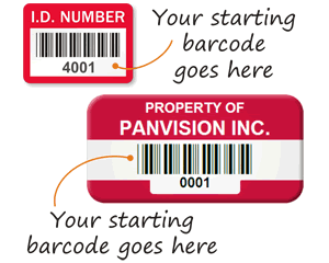 Custom ID Number Barcode Labels