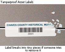 Tamperproof Asset Labels