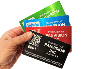 Large asset labels with barcode