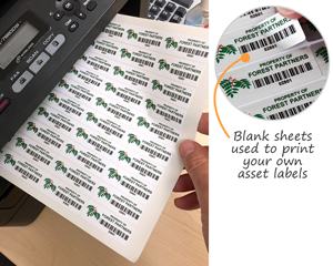 Laser Printable Asset Label Sheets