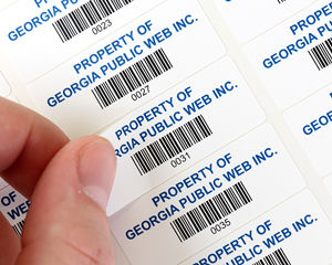 Low cost paper or vinyl barcode labels