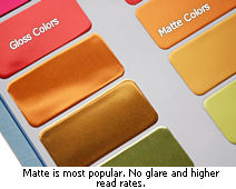 Matte vs gloss metal tags
