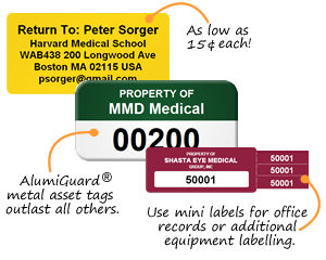 Asset Tags for Hospitals & Clinics