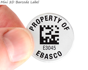 Mini metal 2D barcode label