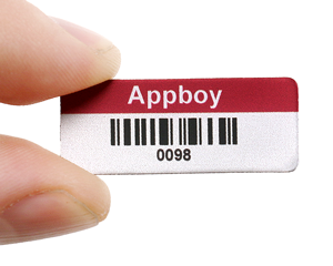 Mini metal barcode labels