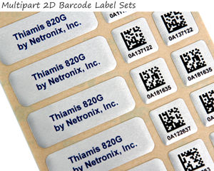 Multipart 2D barcode labels