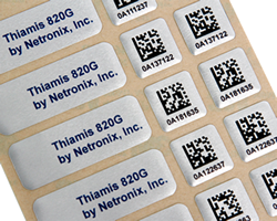 Multipart Asset Tags with Barcode