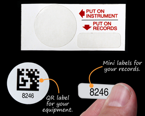 QR and Mini Label for Equipements and Records
