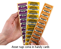 numbered asset tags