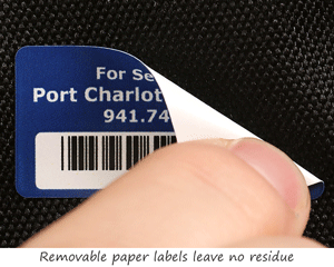 Paper Barcode Labels with Removable Adhesive