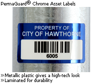 PermaGuard<sup>&reg;</sup> Chrome Asset Labels