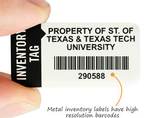 Preprinted barcodes for inventory