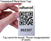 QR Metal Asset Tag