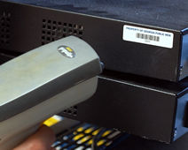 Scanning a computer asset label