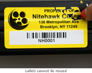 Security barcode label