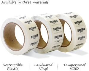 Sequential barcode rolls
