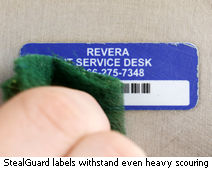 StealGuard labels withstand even heavy scouring