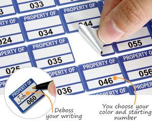 Stock foil asset labels