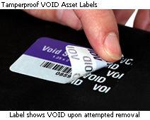 Tamperproof VOID Asset Labels