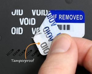Tamperproof Warranty label