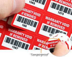 Tamperproof warranty labels