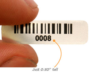 Tiny barcode label