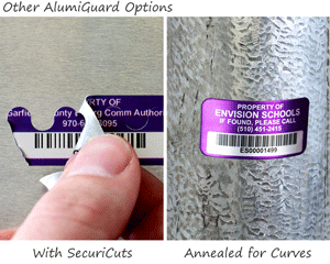 Types of aluminum asset tags