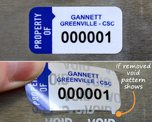 Void labels with numbers