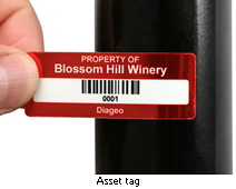 What is an asset tag?