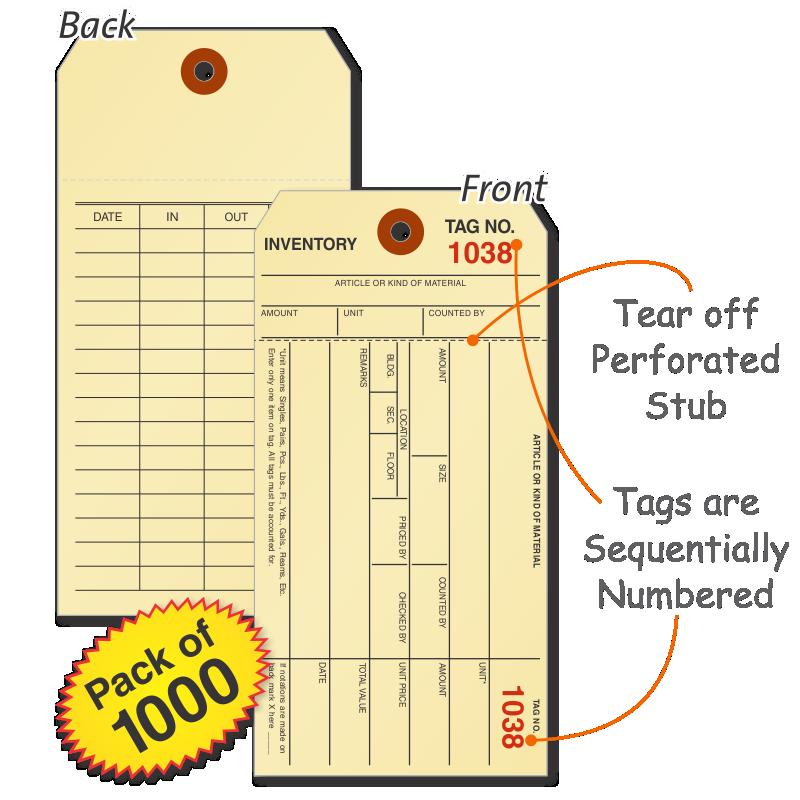 Manila Inventory Tags