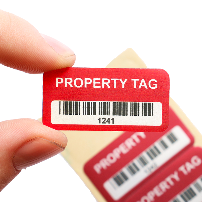 Aluminum Stock Asset Tags Inventory Asset Tags
