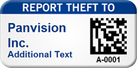 Report Theft Custom 2D Barcode Asset Tag