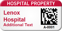 Custom 2D Hospital Property Barcode Asset Tag