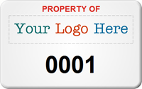 SunGuard Asset Label, Add Company Name with Numbering