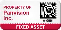 Custom 2D Fixed Asset Barcode Asset Tag