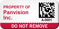 Custom 2D Do Not Remove Asset Tag