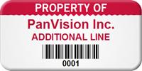 Custom Barcode Asset Tag