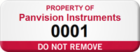 Customizable Do Not Remove Asset Tag with Number