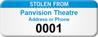 Custom Stolen From Asset Tag with Numbering