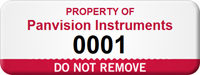 Personalized Do Not Remove Asset Tag with Number