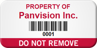 Do Not Remove Custom Asset Label with Barcode