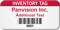 Custom Inventory Tag with Barcode
