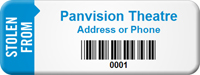 Custom Stolen From Barcode Asset Tag