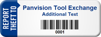 Customized Report Theft Asset Tag with Barcode