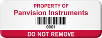 Customizable Do Not Remove Asset Tag with Barcoding