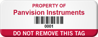 Personalized Do Not Remove Asset Tag with Barcode